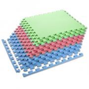 Ochranná puzzle podložka MP10 zelená-modrá-červená