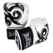 Boxerské rukavice Sparring Pro 20 oz BAIL kůže černo bílé
