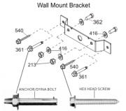 Montážní sada XEBEX Ski Wall mounting set