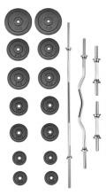 Činkový set TRINFIT PREMIUM XL kovový 80 kg