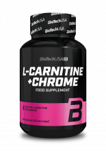 BIOTECH USA L-Carnitine + chrome (for her) 60 kapslí