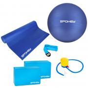Jóga set ASTEYA - podložka + gymnastický míč vč. pumpičky + bloky + popruh SPOKEY