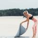 Ručník na jógu TUNTURI 180 x 63 cm s taškou beach
